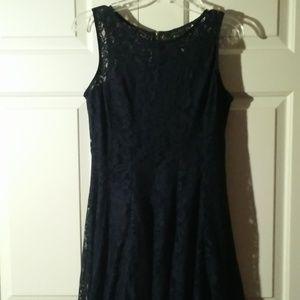 Dress Barn Dresses - !!!LIKE NEW!!! Dress Barn Navy Lace Dress